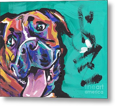Boxer Luv Metal Print by Lea S