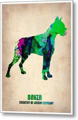Boxer Poster Metal Print by Naxart Studio