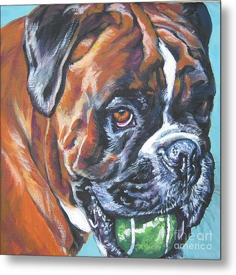 Boxer Tennis Metal Print by Lee Ann Shepard