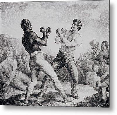 Boxers Metal Print by Theodore Gericault