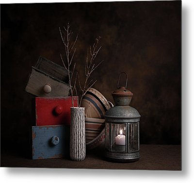 Boxes And Bowls Metal Print by Tom Mc Nemar