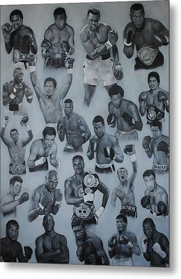 Metal Print featuring the painting Boxing's Greatest by David Dunne