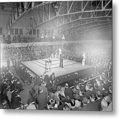 Boxing Match In 1916 Metal Print