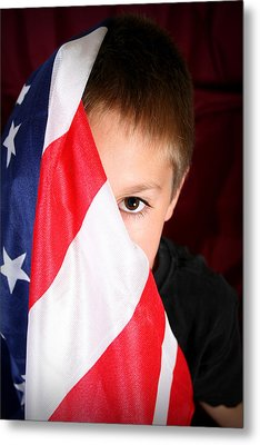 Boy And His Country Metal Print