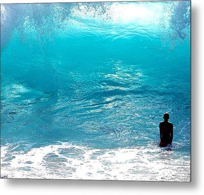 Boy And Wave Kekaha Beach Metal Print
