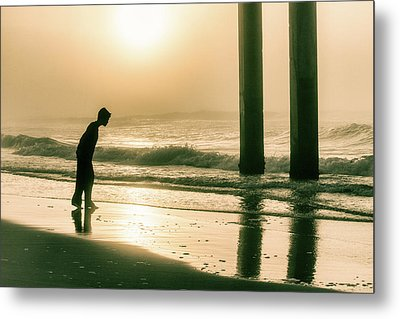 Metal Print featuring the photograph Boy At Sunrise In Alabama  by John McGraw