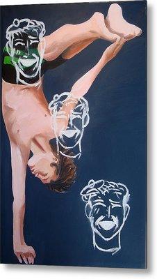 Boy Diver With 3 Tam-o-shanters Metal Print by Geoff Greene