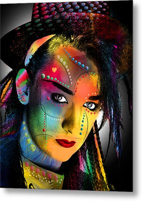 Boy George  Metal Print by Mark Ashkenazi