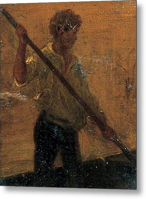 Metal Print featuring the painting Boy In A Punt by Henry Scott Tuke