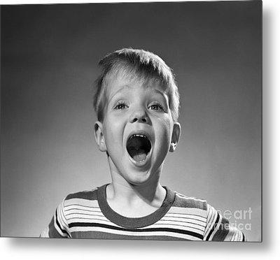 Boy Shouting, C.1950s Metal Print by Debrocke/ClassicStock