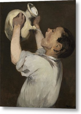Boy With Pitcher Metal Print by Edouard Manet