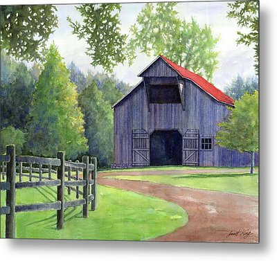 Boyd Mill Barn Metal Print by Janet King