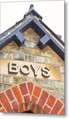 Boys' Entrance Metal Print by Tom Gowanlock