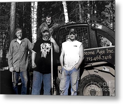 Boys In Blue Metal Print