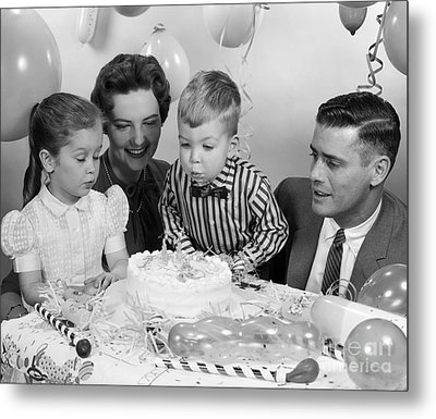 Boys Second Birthday Party, C.1950s Metal Print