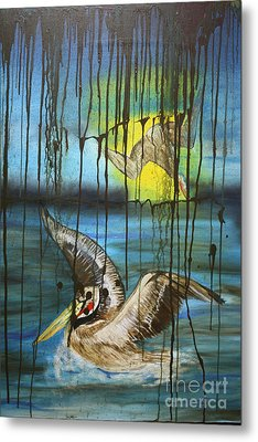 Metal Print featuring the painting Bp Or You by Tbone Oliver