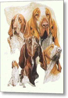 Bracco Italiano W/ghost Metal Print