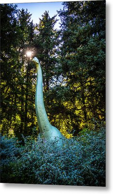 Brachiosaurus In Forest Metal Print by Garry Gay