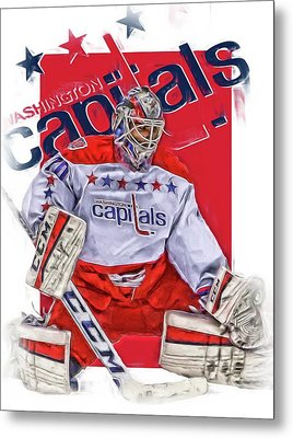 Braden Holtby Washington Capitals Oil Art Metal Print