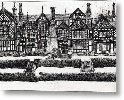 Bramall Hall Metal Print by Vincent Alexander Booth