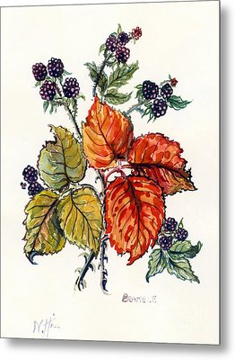 Bramble Metal Print by Nell Hill