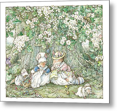 Brambly Hedge - Hawthorn Blossom And Babies Metal Print by Brambly Hedge