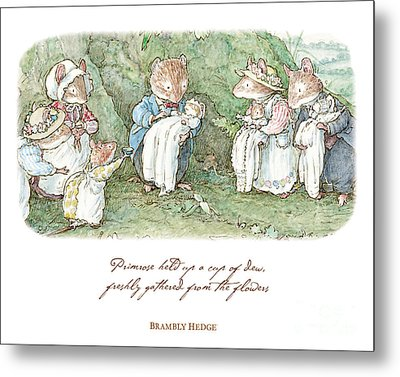 Brambly Hedge Naming Ceremony Metal Print by Brambly Hedge