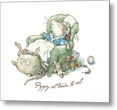 Brambly Hedge - Poppy Sat Down To Rest Metal Print by Brambly Hedge
