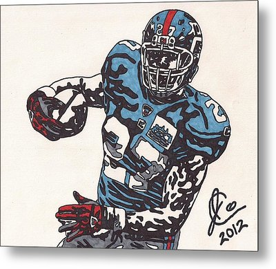 Brandon Jacobs 1 Metal Print by Jeremiah Colley
