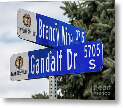 Brandywine And Gandalf Street Signs Metal Print by Gary Whitton