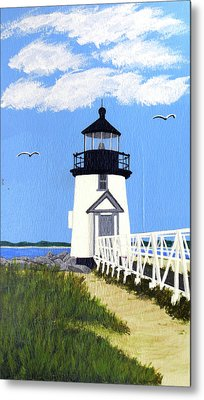 Brant Point Lighthouse Painting Metal Print by Frederic Kohli
