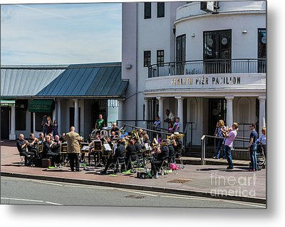 Brass Band At The Pier Metal Print by Steve Purnell