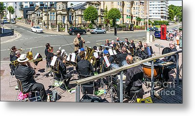 Brass Band Panorama Metal Print by Steve Purnell
