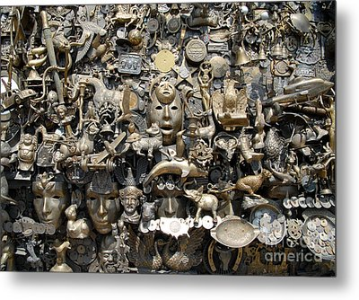 Brass Works Metal Print by Walter Oliver Neal