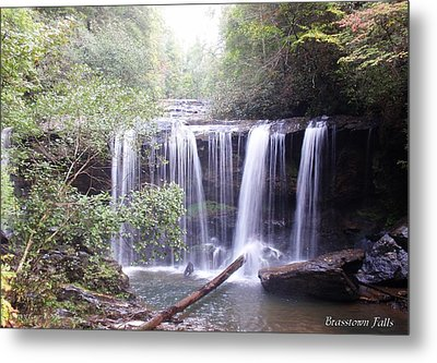 Brasstown Falls Metal Print by Lane Owen