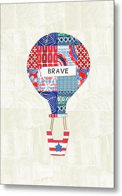 Brave Balloon- Art By Linda Woods Metal Print by Linda Woods