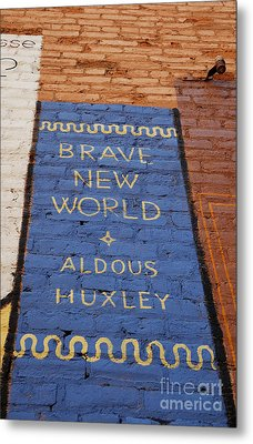 Brave New World - Aldous Huxley Mural Metal Print by Steven Milner