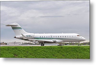 Bravo Bravo On The Taxiway Metal Print by Guy Whiteley
