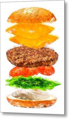 Brazilian Salad Cheeseburger Metal Print