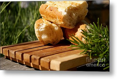 Metal Print featuring the photograph Bread I by Louise Fahy