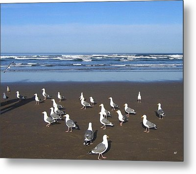 Breakfast At Cannon Beach Metal Print by Will Borden