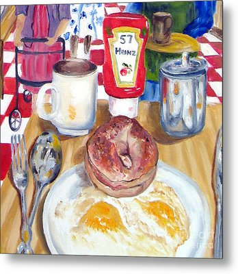 Breakfast At The Deli Metal Print by Lisa Boyd
