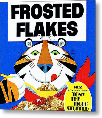 Breakfast Cereal Tony The Tiger 20160215 Square Metal Print