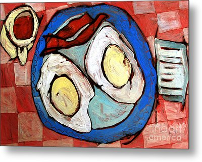 Breakfast Of Champions Rephotographed Metal Print