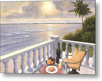 Breakfast On The Veranda Metal Print