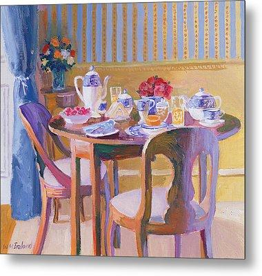 Breakfast Table Metal Print