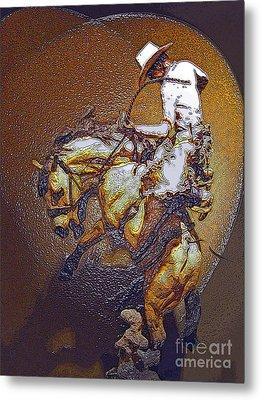 Breakin A Bronc Metal Print by Al Bourassa