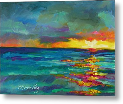 Metal Print featuring the painting Breaking Light by Chris Brandley