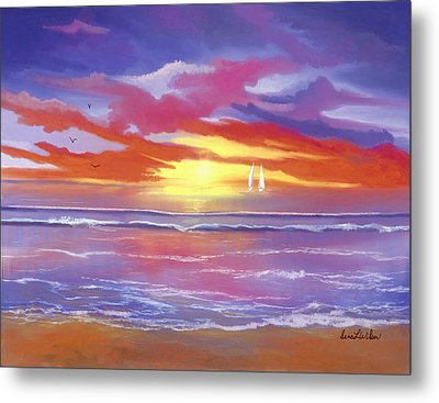 Metal Print featuring the painting Breaking Sun by Sena Wilson