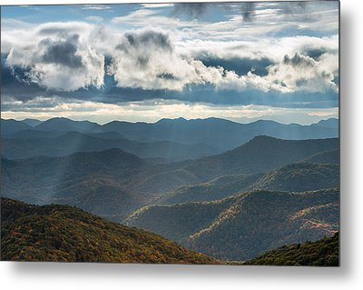Blue Ridge Parkway Breaking Through  Metal Print